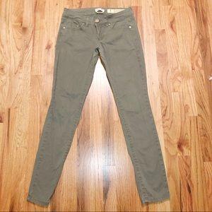 Indigo Rein 5 Olive Green Khaki Skinny Pants
